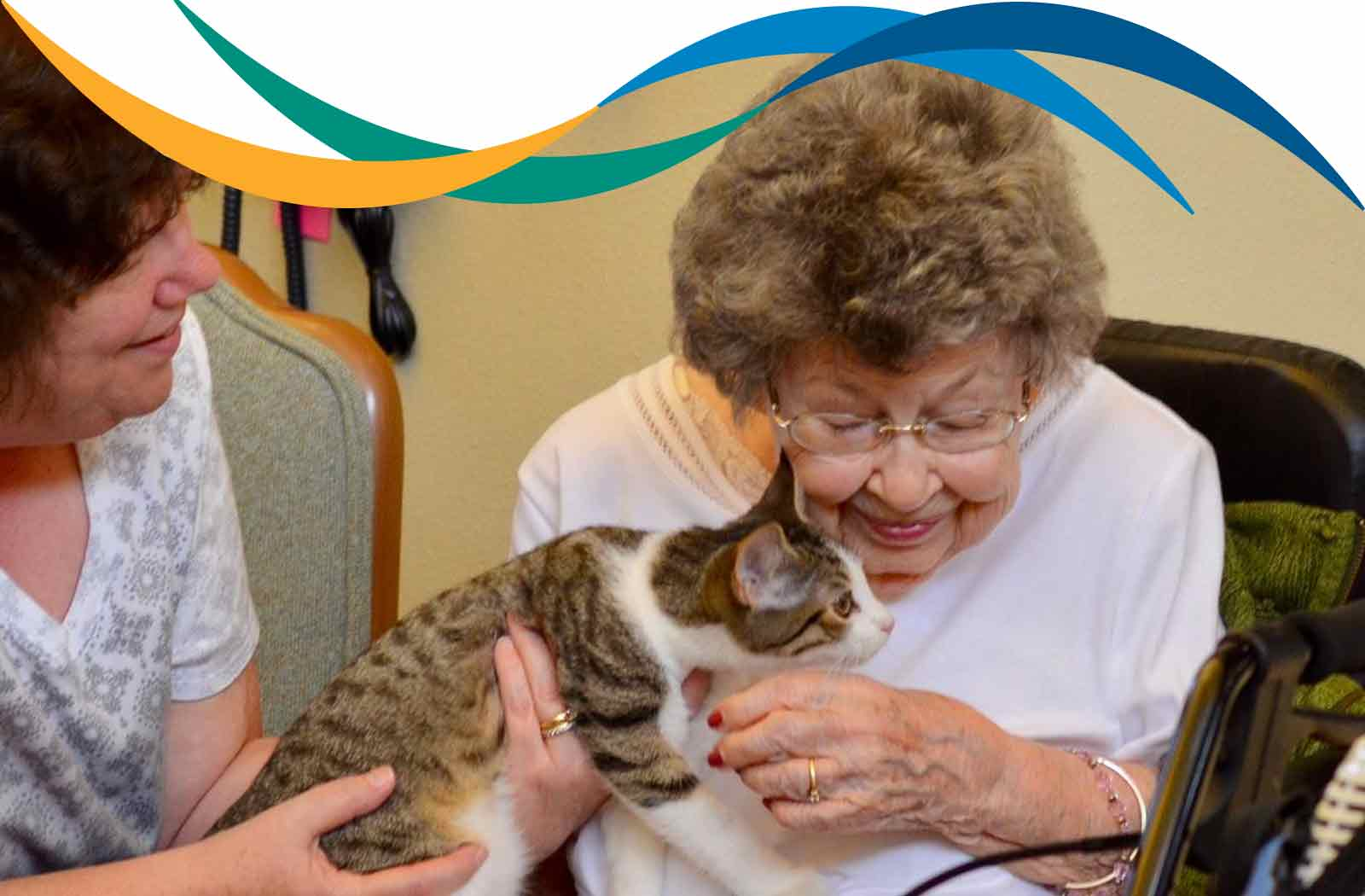 Sheboygan Senior Community Resident Enjoys a Visit from a Furry Friend